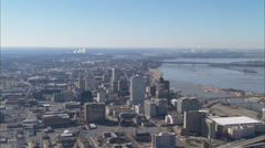 Memphis Skyline with River Stock Footage