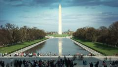 Beautiful view of Washington monument obelisk on the National Mall in Washington Stock Footage