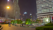 Stock Video Footage of Pudong night walk hyperlapse 4K