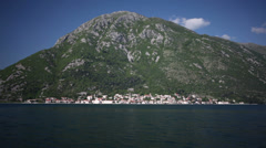 Panorama of Perast Stock Footage