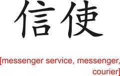 Chinese Sign for messenger service, messenger, courier Stock Illustration