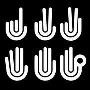 hand gestures counting symbols from 1 to 5 - stock illustration