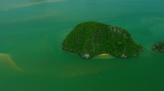 Aerial view Phang nga bay built of large and small Islands, Thailand - stock footage