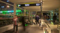 Subway entrance timelapse 4K Stock Footage
