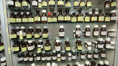 potion ingredients tinctures - stock footage
