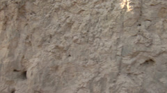 Loess sediment wall. - stock footage