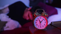 Getting up out of bed late Stock Footage