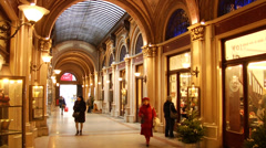 Freyung Passage at christmas, stylish shopping mall in Vienna, Austria, Europe 2 Stock Footage