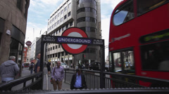 Double Decker Bus Tube Transport for London Stock Footage