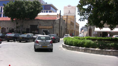 Busy road in Limassol near harbor Stock Footage