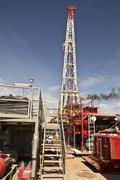 Land Drilling Rig Views - stock photo