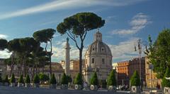 Italy, Rome, via del Fori Imperiali street. Stock Footage