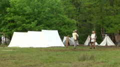 Stock Video Footage of celtic village 08