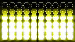 Yellow spotlight flash lighting bulb Stock Footage
