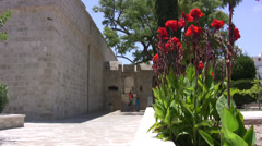 Entrance to Medieval Castle in Limassol Stock Footage