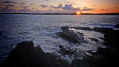 Sunset Waves Timelapse Stock Footage