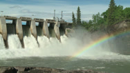 Stock Video Footage of Hydro Dam with Rainbow m 03