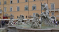 Italy, Rome, fountain on Piazza Navona. Footage