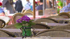 Italy, Rome, street cafe on Piazza Navona. Selective focus. Stock Footage
