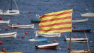Stock Video Footage of Catalonia Flag 01