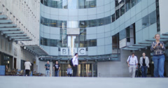 The BBC in London 4K Stock Footage