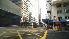 Time lapse vehicle traffic intersection Hong Kong, China Stock Footage