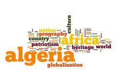 algeria word cloud - stock illustration