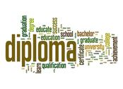 Stock Illustration of diploma word cloud