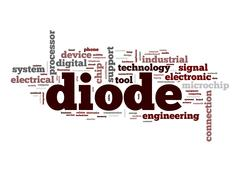 diode word cloud - stock illustration