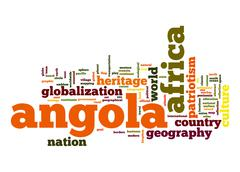 Stock Illustration of angola word cloud