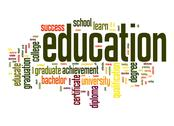 Stock Illustration of education word cloud
