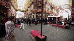 Leadenhall Market 3 - stock footage
