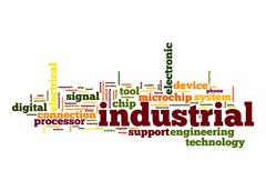 industrial word cloud - stock illustration