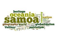 Samoa word cloud Stock Illustration