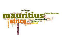mauritius word cloud - stock illustration