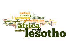 Lesotho word cloud Stock Illustration
