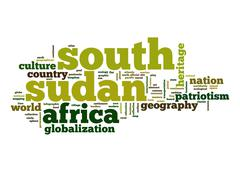 south sudan word cloud - stock illustration