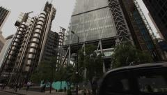 Lloyds Building London, Do Bankers Dream of Electric Hearts Stock Footage