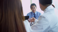 Meeting of Medical Consultants Hospital Executives Stock Footage