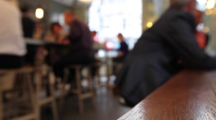 Coffee Cafe Bar Blurred Stock Footage