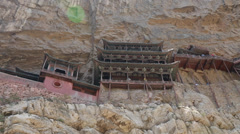 Visiting the hanging temple monastery in datong china Stock Footage