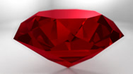 Stock Video Footage of Ruby red gemstone gem stone spinning wedding background loop