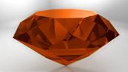 Stock Video Footage of Amber orange gemstone gem stone spinning wedding background loop