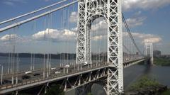 Suspension Bridges, Spans, Foot Bridges Stock Footage
