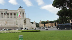 The Monumento Nazionale a Vittorio Emanuele II Stock Footage