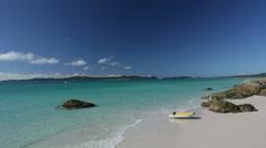 Tropical Australian Beach Landscape - stock footage