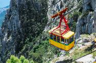 Stock Photo of ropeway in yalta leading to the top of ai-petri mountain, crimea