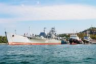 Stock Photo of warships in the bay of sevastopol. crimea