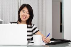 Stock Photo of working woman