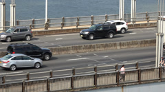 Bridge Traffic, Cars, Roadways Stock Footage